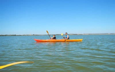 Kanoo in der Lagune (1)