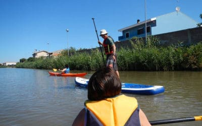Kanoo in der Lagune (2)