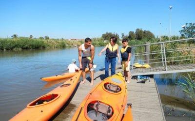 Kanoo in der Lagune (3)